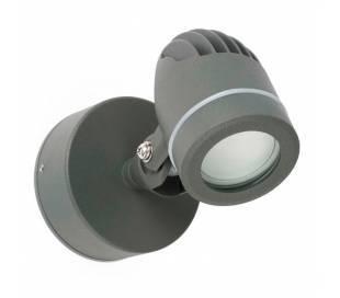 Wandleuchte LED aus Aluminiumdruckguss, dunkelgrau - GERA