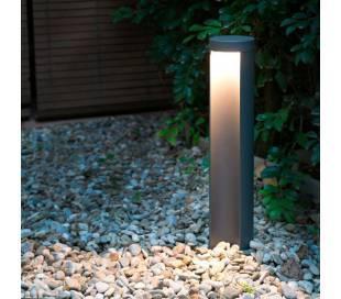 Garten Led Wegeleuchte Aus Aluminium Dunkelgrau Chandra