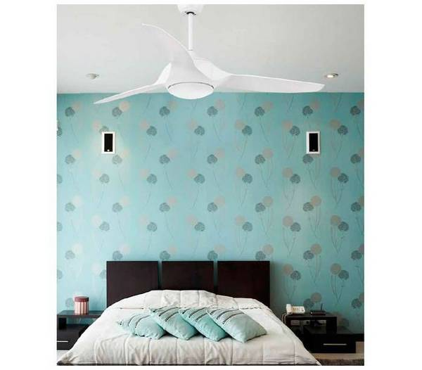 deckenventilator wei mit led licht und fernbedienung kailua. Black Bedroom Furniture Sets. Home Design Ideas