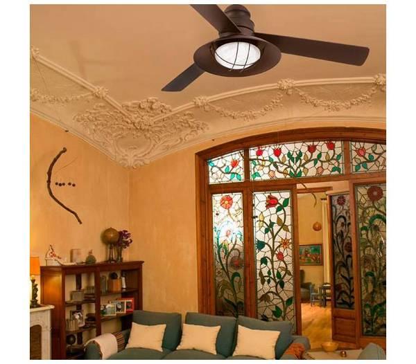 deckenventilator dunkelbraun mit fernbedienung winch. Black Bedroom Furniture Sets. Home Design Ideas